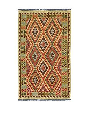 Eden Teppich Kilim-P grün/mehrfarbig 121 x 197 cm
