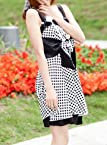 Bowknot Flower Bowknot Gallus Black Dress