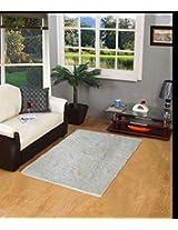 PINDIA FANCY LIVING ROOM WHITE FLOOR RUNNER MAT (110 x 70 CM)