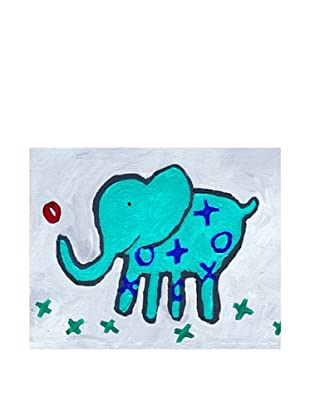"Cici Art Factory X & O Elephant, 8""x 10"""