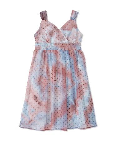 Pippa & Julie Girl's Sleeveless Surplice Dress (Multi)