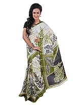 Parichay Women's Silk Saree(Pesta Green)