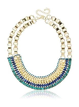 Sparkling Sage Layered Bib Necklace