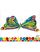 Oopsy Daisy Fine Art for Kids Eric Carle's Butterfly Canvas Wall Art by Eric Carle, 18 x 14