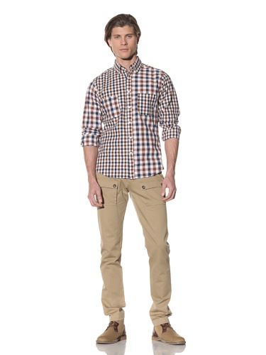 Shades of Grey by Micah Cohen Men's Multi-Panel Shirt (Rustic Check)