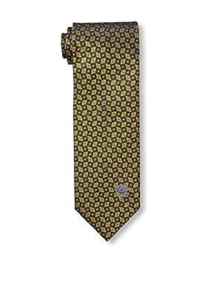 Versace Men's Floral Tie, Gold/Black