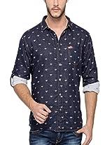 Spykar Men Cotton Indigo Casual Shirt (XXX-Large)