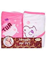 Diva of the Tub Hooded Bath Towel Set 2 Pack Frenchie Mini Couture