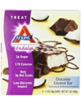 Atkins Endulge Chocolate Coconut Bar, 1.4 Ounce, 5 Count Bars