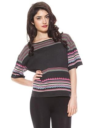 La Casita de Wendy Camiseta Étnico (negro)