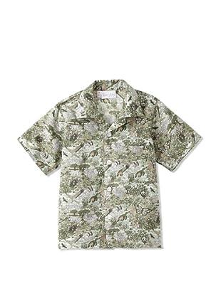 Rachel Riley Boy's Safari Print Shirt (Green)
