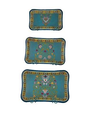 Set of 3 Tin Trays
