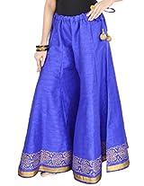 9Rasa Womens Cotton Trousers ,Blue ,Free Size