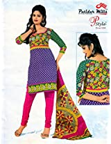 Buyclues Stylish Multicolour Printed Salwar Suit Dress Material Rcc2286