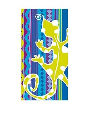 Art Experience Toalla De Playa Lagarto Azul 75 x 150