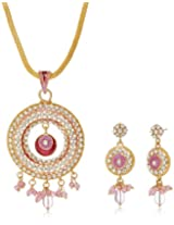 Aakhi with Pink Pearl Drop Jewellery Set for Women (AKS_ST_CIRP)