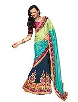 Bollywood Blue Party Wear Saree Pakistani Indian Wedding Sari