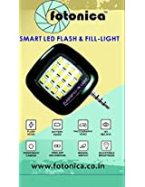 Fotonica Portable Mini 16 LED Night Using Selfie Enhancing Dimmable Flash Light Cellphone Camera Flash Fill-in Light Pocket Spotlight Photo Video Light Lamp Speedlite For Android Smartphone and Tablets Camera Apple iPhone 6 Plus/6/5/5S/5C/4/4S, iPad Air 2/1, iPad 4/3/2, iPad Mini 3/2/1, Samsung Galaxy S6/S5/S4/S3/S5 Mini/S4 Mini, Galaxy Note 4/3/2/Edge, LG tribute, G3/G2, optimus l70/l90/G Pro, Lenovo S8 S898T/A850, Sony Xperia Z3/Z2/Z1/Z1 Compact, Huawei G610/Ascend Mate 7/2/P7/P6/Honor 6, Google Nexus 7/6/5, BlackBerry Z10 (Green)