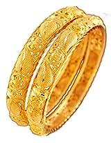 Gamesndeals Bridal Gold Plated Copper Bangle Set for Women