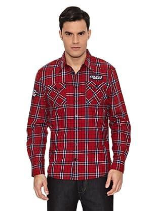 Paul Stragas Camisa (Rojo / Azul Marino)