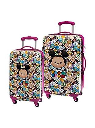 Disney 2er Set Hartschalen Trolley Tsum Tsum Pink