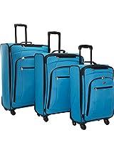 American Tourister Pop 3 Piece Spinner Luggage Set - Aqua Blue