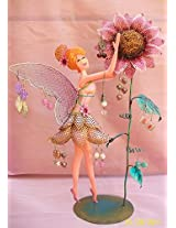 Bali Mantra Fairy with Sunflower Jewelry Holder (Pink)