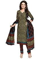 Salwar Studio Multicolor Cotton Dress Material with Dupatta SHIMAYAA-1204