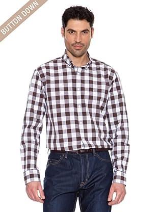 Pedro del Hierro Camisa Cuadros Vichy (Marrón)
