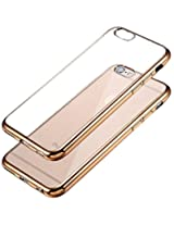 Kapa Electroplated Edge Ultra Thin TPU Flexible Back Case Cover for iPHone 5 5S - Gold