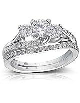 Kiara Swarovski Signity Sterling Silver Sadhana Ring KIR0702(8)
