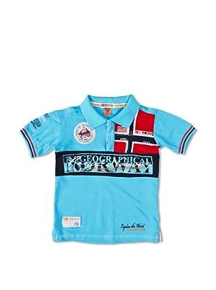 Geographical Norway Polo Manga Corta Kyer (Turquesa)