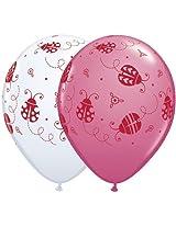 Ladybug Assorted 11 Inch Latex Balloons