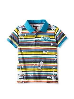 Desigual Boy's Cacaolat Polo (Blue)