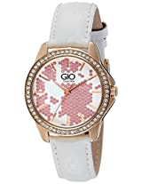 Gio Collection Analog White Dial Women's Watch - G0064-01