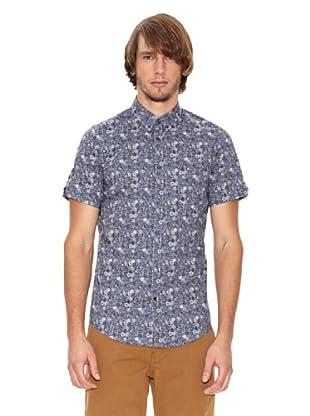 Ben Shermann Camisa Flores Mark (Azul)