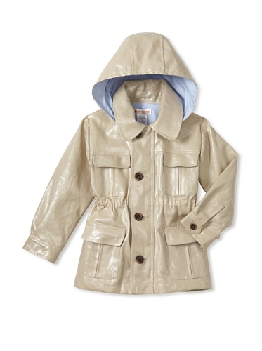 Hippototamus Coated Fabric Anorak with Removable Hood (Sand)