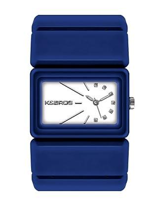 K&BROS 9548-3 / Reloj de Señora  con correa de plástico azul