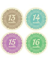 Lucy Darling Shop Monthly Bodysuit Baby Sticker Baby Girl Doily Months 13 24