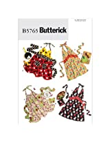 Butterick Patterns B5765 Aprons and Potholders, Size XY (SML-MED-LRG)