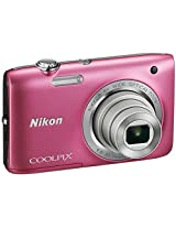 Nikon Coolpix S2800 20.1 MP Point and Shoot Camera (Pink) with 5x Optical Zoom, 4GB Card and Camera Case