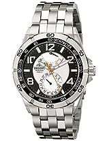 Orient Men's CFM00001S Power Reserve Semi-Skeleton Silver Automatic Watch