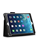 HOKO Black Leather Flip Case Cover Stand with magnetic closure for Apple iPad Air (Auto wake and sleep)