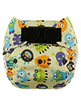 Blueberry One Size Deluxe Hook and Loop Pocket Diapers, Monsters (Discontinued by Manufacturer)