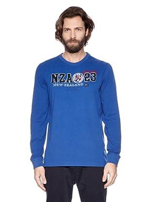 NZA New Zealand Auckland Camiseta Manga Larga LS Pomorie (Azul Eléctrico)