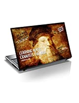 "Monika Creations Leonardo da Vinci ORIGINAL ART WITH QUOTES ""LEARNING NEVER EXHAUSTS THE MIND"" 15.6 inch Laptop Skin, Fits for 13.3"", 14"", 15"", 15.6"", 16"" Screen (BUY 2 AND GET 1 FREE)"