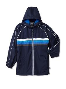 Rothschild Boy's Striped Fleece-Lined Jacket (Navy)