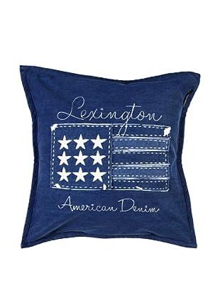 Lexington Company Funda De Cojín Bandera Vaquera (Azul)