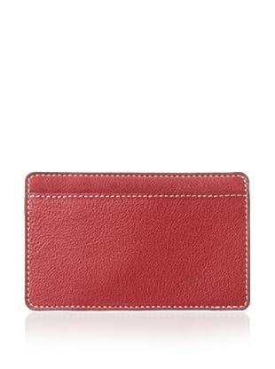 Leone Braconi Men's Panama Credit Card Holder (Red)
