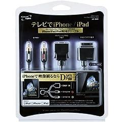 iPod/iPhone/iPad向け充電用USBポート搭載D端子ケーブル[LHC-DUi01] - Logitec